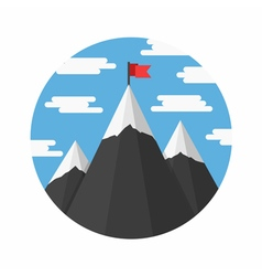 Mountains with Flag vector image