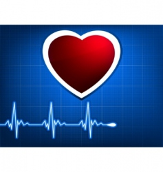 Normal ecg blue background vector