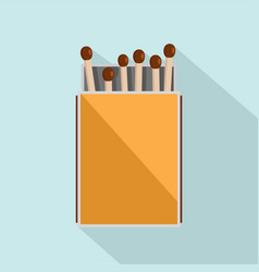pack of matches icon flat style vector image