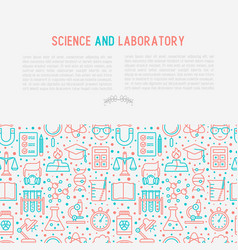 Science and laboratory concept vector