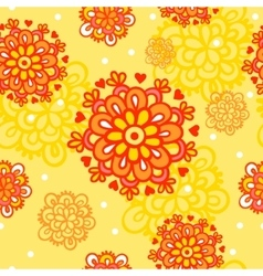 Seamless pattern with autumn flowers vector
