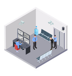 security room in airport railway or bus station vector image