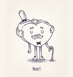 set cute characters cute cartoons vector image