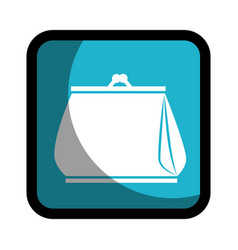 Square button woman purse icon design vector
