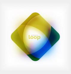 Square loop business symbol geometric icon vector
