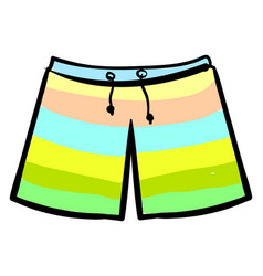 Swimming shorts on white background vector