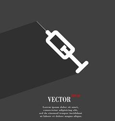syringe icon symbol Flat modern web design with vector image