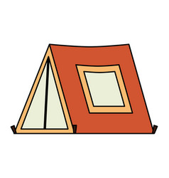 Tent camping isolated icon vector