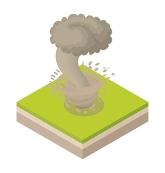 Tornado icon in cartoon style vector image