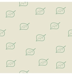 Tree leaf green seamless pattern vector image