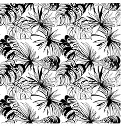 tropical jungle floral seamless pattern vector image