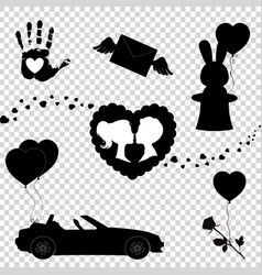 valentine or wedding collection elements for vector image