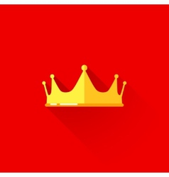 vintage of a crown in flat style with long shadow vector image