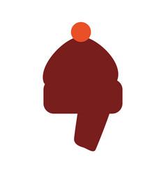 Winter hat wear accesorie vector