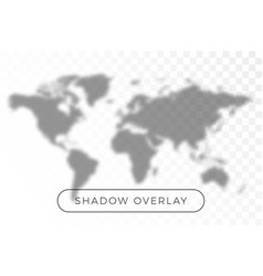 world map shadow realistic grey decorative vector image