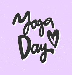 Yoga day sticker for social media content vector