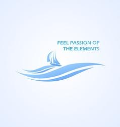 Boat and Beautifull Sea vector image vector image