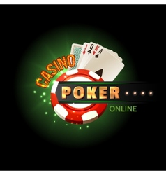 Casino poker online poster vector image vector image