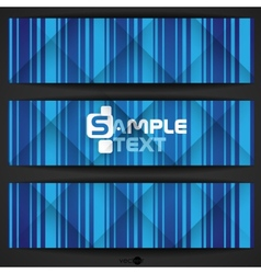 Abstract Blue Stripe Background vector image