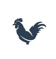 Cock logo on white background - stock vector image