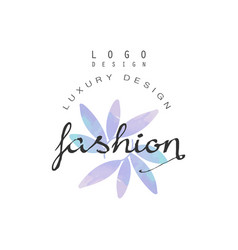 fashion luxury design logo badge for clothes vector image