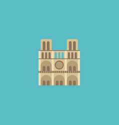 flat icon notre dame element vector image