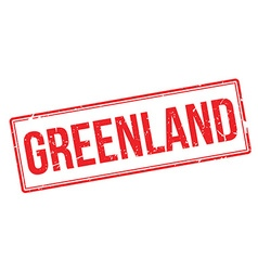 Greenland rubber stamp vector image
