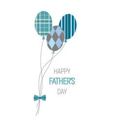 happy fathers day balloons vector image