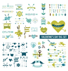 Huge Valentines Day Set - over 100 elements vector image vector image