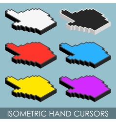 Isometric hand cursors vector image vector image