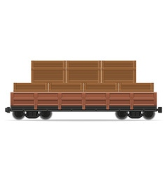 railway carriage 02a vector image vector image