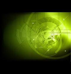 tech background green dark vector image