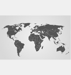 world map infographic template layered template vector image