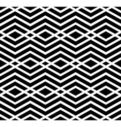 Contrast geometric seamless pattern with symmetric vector image vector image
