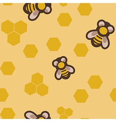 Seamless with bees vector image