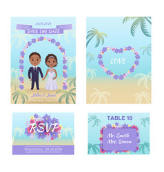 summer wedding invitation cars vector image vector image