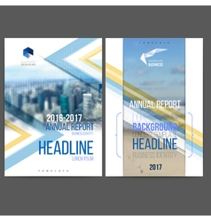 template design annual report 2017 vector image vector image