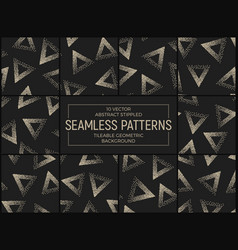 abstract stippled seamless patterns vector image