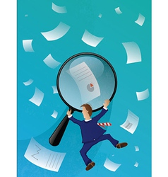 Business Papers Seach vector image vector image
