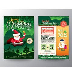 Christmas sale Brochure Flyer design Layout vector image vector image