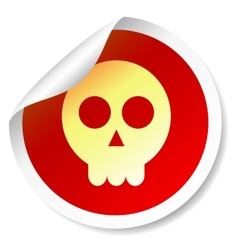 Skull round sticker vector image vector image