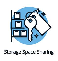 Storage space sharing economy concept black vector