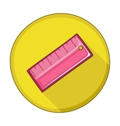 Straightedge flat icon vector image