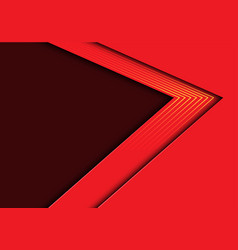 abstract red arrow yellow lines light with blank vector image