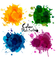 Abstract set of color blots vector