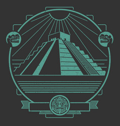 Ancient mayan vector