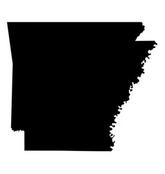arkansas ar state map usa black silhouette solid vector image
