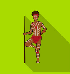 astralian aborigine icon in flat style isolated on vector image