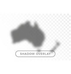 australia world map shadow realistic grey vector image