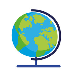 Back to school globe geography map world icon vector